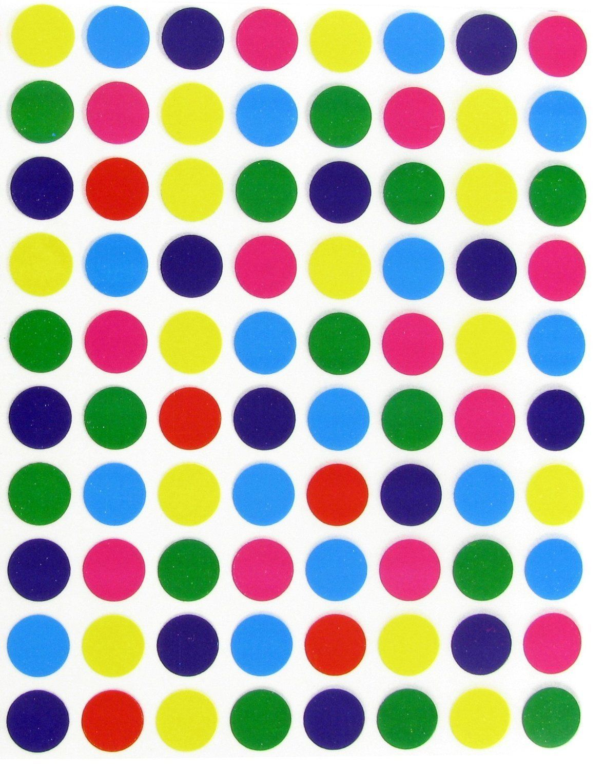Circle Color Coded Dot Stickers 1//2 Inch Round Marking Labels Permanent Adhesive