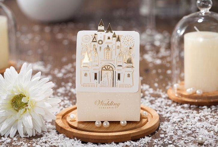 White laser cut hollow wedding favor candy boxes CB5093, matching CW5093