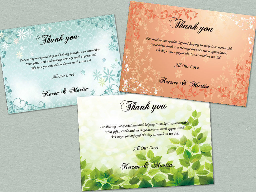 Personalized Thank you card, single-side color printing, free envelope, any text