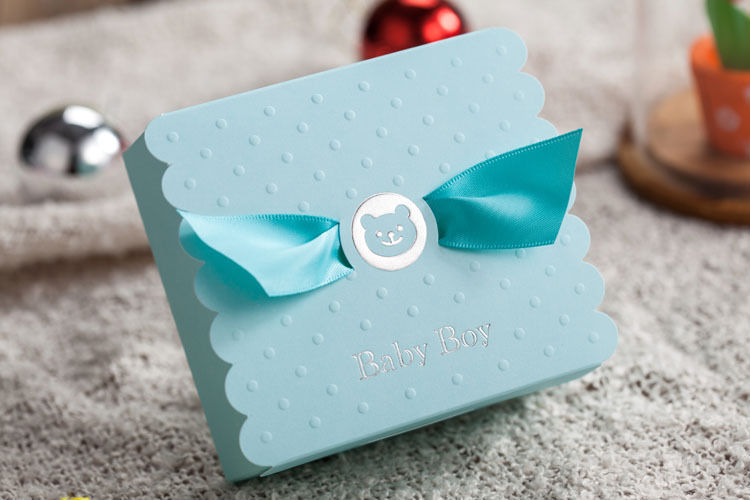 Lovely blue baby/Child candy boxes CB5302 for birthday, party, etc.