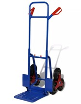 6-wheel Blue-red Sack Truck with 150 kg Capacity(BLUE) - $96.98