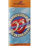 SOUTHWEST Airlines Feb 5, 2006 Flight Schedule 35 Years Commemorative - $6.95