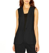 Rachel Roy Vest Sz S Black Sheer Chiffon Back O... - $49.44