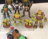 """Teenage Mutant Ninja Turtles 5"""" Action Figure LOT Leonardo Splinter Mike TMNT"""