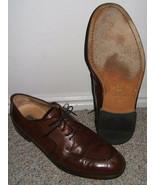 CLASSY VITO RUFOLO BROWN FINE LEATHER DRESS SHOES--12  - $25.00