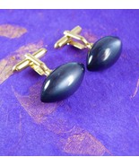 Vintage Football cufflinks moonglow gold cufflinks sports gift for dad s... - $75.00