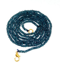"""L.b. Coated Crystal 3-4mm rondelle faceted beads 22"""" beaded Choker long necklace - $17.97"""