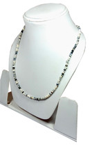 "Natural Dendrite Opal 3-4mm rondelle faceted beads 32"" beaded Choker necklace - $27.77"