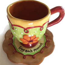 Floral Cup & Saucer by Westland Giftware Cream ... - $19.79