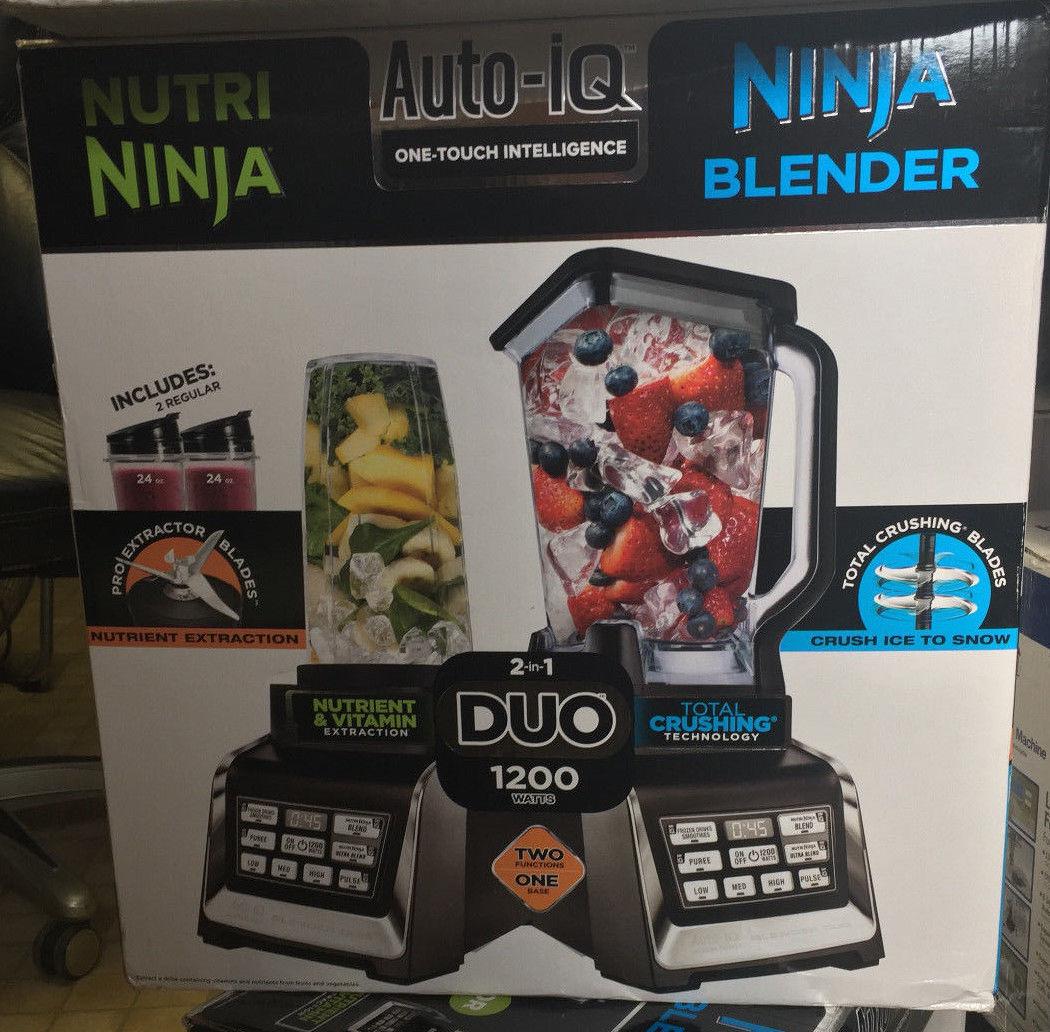 DEAL!!!Nutri Ninja BL640 Auto-IQ 2-in-1 Duo 1200 Watt Blender New