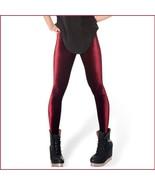 Burgundy Black or Navy Stretch Velvet High Waist Tight Velour Footless L... - $42.95