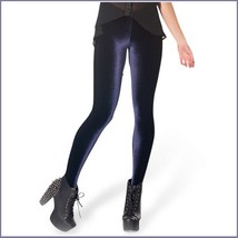 Burgundy Black or Navy Stretch Velvet High Waist Tight Velour Footless Legging image 2