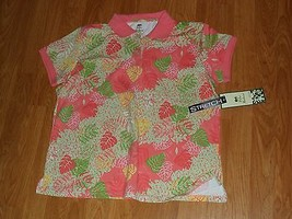 Palm Harbour Knit Shirt Size Pxl Stretch Coral Floral Print Nwt - $15.79
