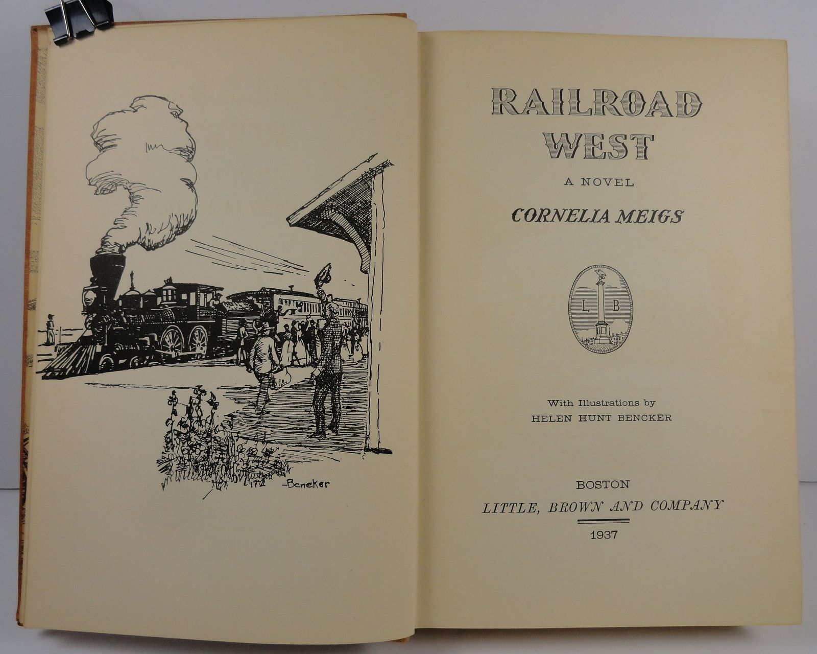 Railroad West by Cornelia Meigs 1937 Little, Brown