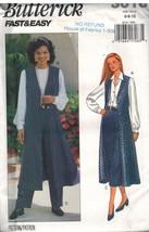 3018 Vintage Butterick Sewing Pattern Misses Vest Skirt Pants Fast Easy ... - $6.92