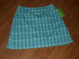 Allyson Whitmore Golf Skorts Size 8P Stretch Green Plaid Nwt - $17.98