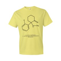 Ketamine Molecule T-Shirt Science Gift Ketamine Veterinarian Animal Tranquilizer - $18.95+