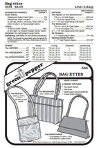 Bag-ettes Bags #535 Sewing Pattern (Pattern Only) gp535 - $7.00