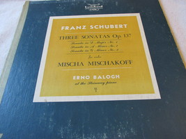 Frank Schubert Three Sonatas Op. 137 Record Album - $4.49