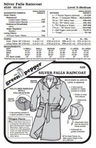 Silver Falls Raincoat #539 Sewing Pattern (Pattern Only) gp539 - $9.00