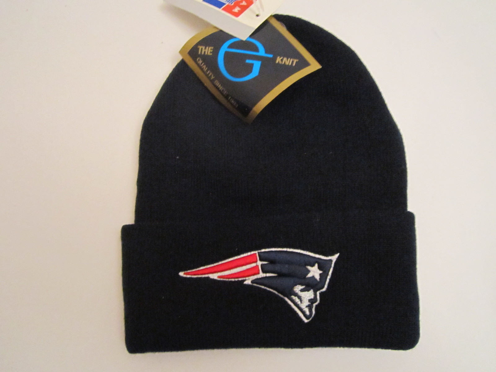 Vintage NFL New England Patriots Cuffed Logo Knit Hat (New) by The G Knit Cap Co for sale  USA