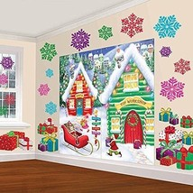 Amscan Winter Wonderland Christmas Party North Pole Mega \Value Scene S... - $26.70