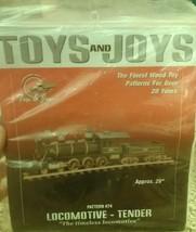 "Toys and Joys: Pattern #74 Locomotive-Tender ""t... - $15.99"