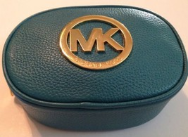 MICHAEL KORS FULTON COSMETIC BAG/ CLUTCH - NWT! -Teal Leather - $78.21