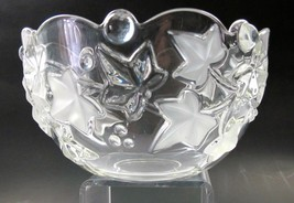 Pressed glass bowl, 24% lead crystal Great gift  - $17.60