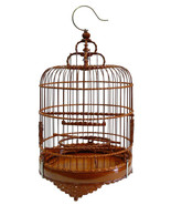 Handmade Chinese Wood Bamboo Round Collectible Decor Birdcage mh318E - $490.00