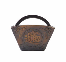Chinese Metal Bronze Color Rice Measurer Shape Container cs1384E - $198.00