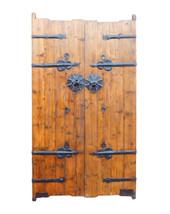 Chinese Vintage Iron Hardware Door Gate Wall Panel cs1179E - $2,900.00