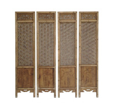 Set of 4 Pieces Geometric Flower 2 Sides Door Panel fs333E - $3,200.00