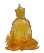 Liuli Glass Orange Tibetan Guru Rinpoche Buddha Statue vs649E (Free Ship... - $2,300.00
