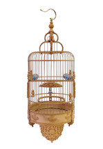Chinese Bamboo Dimensional Flower Vase Carving Birdcage Display cs1764E - $4,980.00
