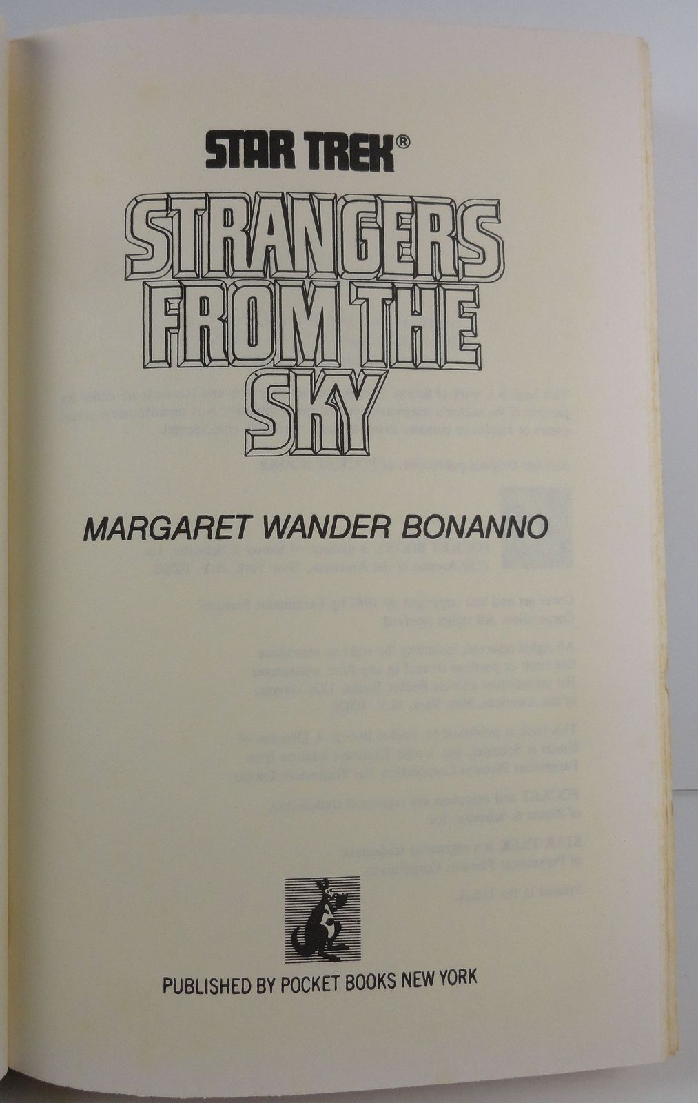 Star Trek Strangers From the Sky by Margaret Wander Bonanno