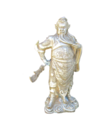 Chinese Silver Color General Guan Metal Statue JZ124E - $195.00
