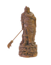 Chinese Wood Carved General Guan Statue Figure cs1658E - $295.00