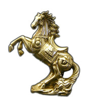 Chinese Silver Pewter Rearing Horse Figure cs697-4E - $190.00