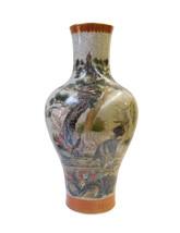 Chinese Gray Crackle 3 Rams Round Porcelain Vase cs1482E - $1,280.00