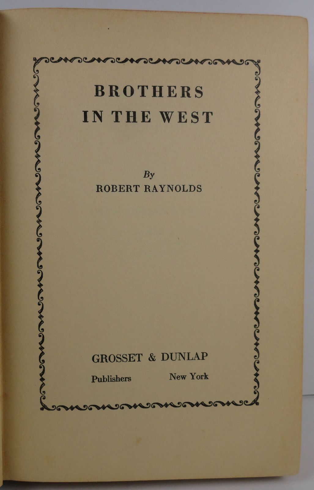 Brothers in the West by Robert Raynolds 1931