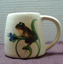 Vintage Emerson Creek Pottery Frog Coffee Mug Amphibian Frog on Flower R... - $8.00