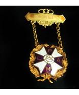 1953 Oddfellow medal Jewel Ladies Auxiliary Patriarchs Militant LAPM gol... - $75.00