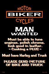 Harley man sign