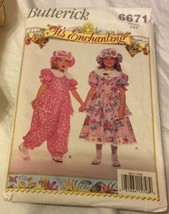 1993 Butterick Sewing Pattern 6671 SZ4 It's Enchanting Girl Dress, Jumps... - $5.45