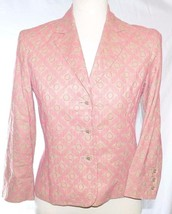 Express Camel/Tan w/Pink Embroidery Suit Coat/Jacket/Blazer 2 XS Extra S... - $12.99