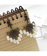 Pearl Resin Bead Post back Dangle Earrings  - $3.00