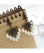 Pearl Resin Bead Post back Dangle Earrings  - $3.00