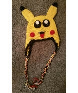 Pikachu-Pokemon Inspired Handmade Crochet Kids Hat - $30.00