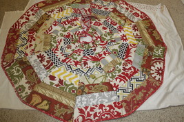 "Christmas Tree skirt quilted multicolors 60"" - $110.00"